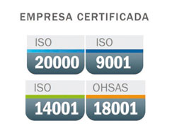 NetService maintains ISO 9001, ISO 14001, OHSAS 18001 and ISO 20000 certifications