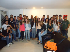 Students from the Instituto Federal Fluminense in a technical tour to NetService